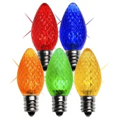 C7 Twinkle Multicolor LED Christmas Light Bulbs