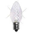 C7 Twinkle Cool White LED Christmas Light Bulbs