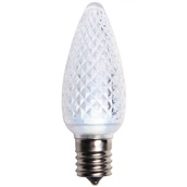 C9 Cool White LED Christmas Light Bulbs