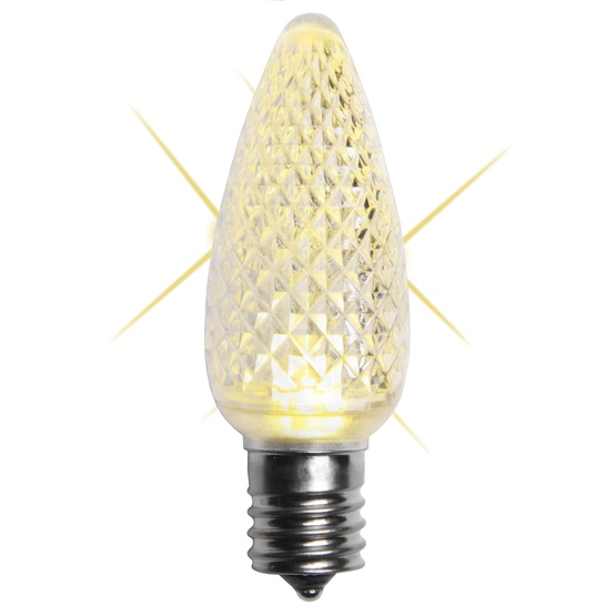 C9 Twinkle Warm White LED Christmas Light Bulbs