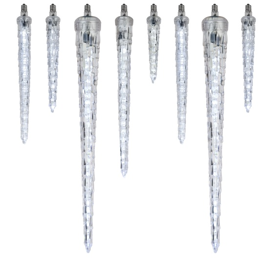 C7 Falling Icicle Cool White LED Christmas Replacement Bulbs