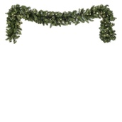Tiffany Prelit Christmas Garland, Clear Lights