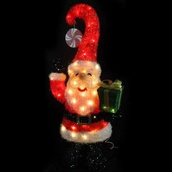 70 Light Tinsel Santa Outdoor Decoration