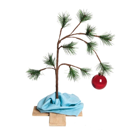 "24"" Charlie Brown Musical Christmas Tree with Blanket"
