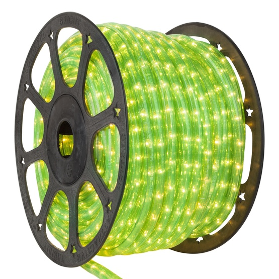 "150' Fluorescent Green Rope Light, 2 Wire 3/8"", 120 Volt"