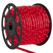 148' Red Chasing Christmas Rope Light, 4 Wire (14mm), 120 Volt