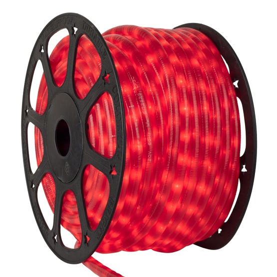 "150' Pearl Red Chasing Rope Light, 3 Wire 1/2"", 120 Volt"