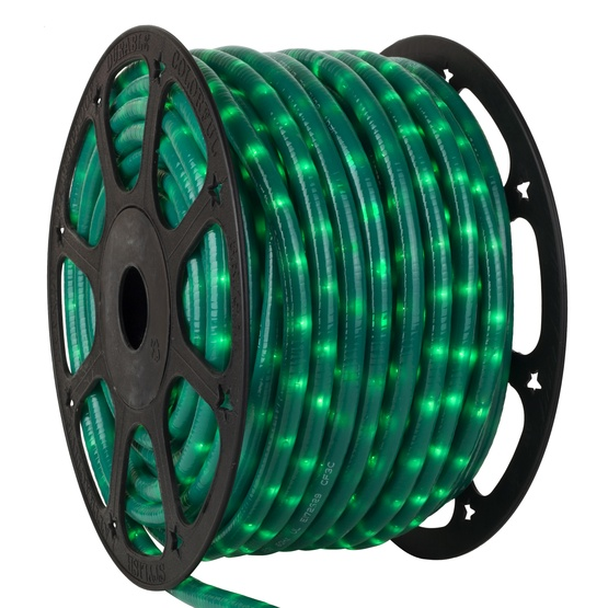 "150' Pearl Green Chasing Rope Light, 3 Wire 1/2"", 120 Volt"