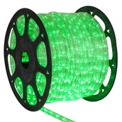 "150' True Green Chasing LED Rope Light, 3 Wire 1/2"", 120 Volt"