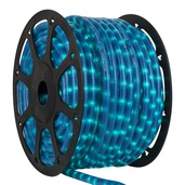 "150' Pearl Blue Chasing Rope Light, 3 Wire 1/2"", 120 Volt"