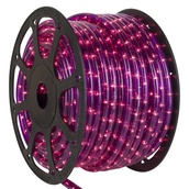"150' Purple Chasing Rope Light, 3 Wire 1/2"", 120 Volt"