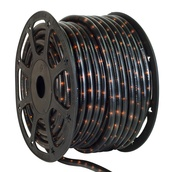 "150' Black Chasing Rope Light, 3 Wire 1/2"", 120 Volt"