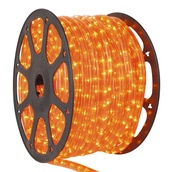 "150' Orange Chasing Rope Light, 3 Wire 1/2"", 120 Volt"
