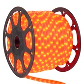 "150' Orange Rope Light, 2 Wire 3/8"", 120 Volt"