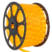"150' Pearl Yellow Chasing Rope Light, 3 Wire 1/2"", 120 Volt"