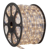 """150' Blue, Clear Chasing Rope Light, 3 Wire 1/2"""", 120 Volt"""