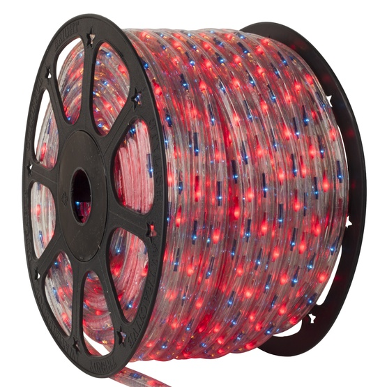 "150' Blue, Red Chasing Rope Light, 3 Wire 1/2"", 120 Volt"