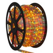 148' Red, Green, Yellow Chasing Rope Light, 4 Wire (14mm), 120 Volt