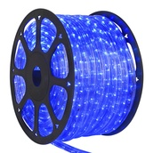 "150' Blue Chasing LED Rope Light, 2 Wire 3/8"", 120 Volt"