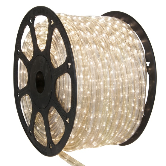 "150' Warm White LED Rope Light, 2 Wire 3/8"", 120 Volt"