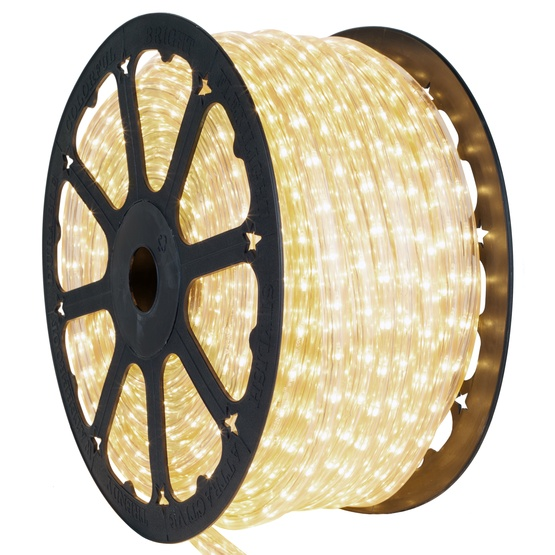 "150' Clear Rope Light, 2 Wire Square 3/8"" x 3/8"", 12 Volt"