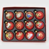 Red Glass Ball Christmas Ornament