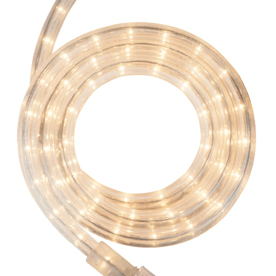 "30' Clear Rope Light, 2 Wire 1/2"", 120 Volt"