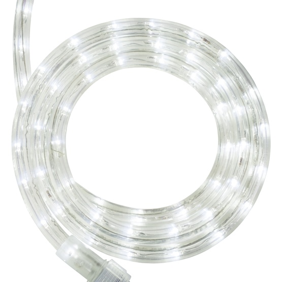 "30' Cool White Twinkle LED Rope Light, 2 Wire 1/2"", 120 Volt"
