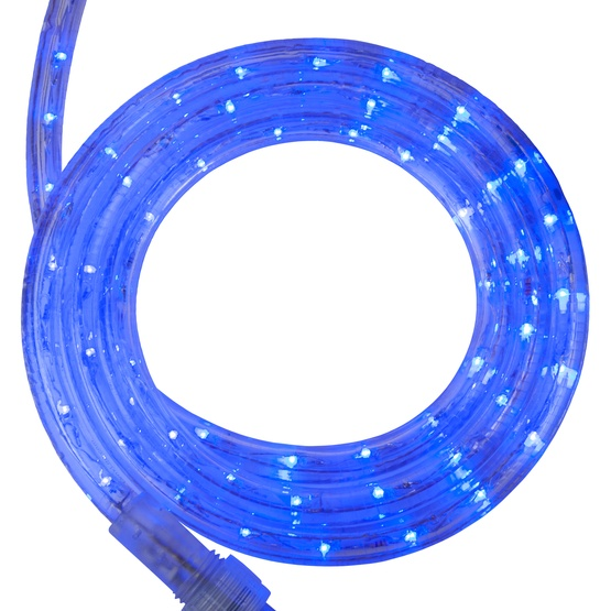 "12' Blue LED Rope Light, 2 Wire 1/2"", 120 Volt"