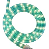 "30' Aqua Blue Rope Light, 2 Wire 1/2"", 120 Volt"