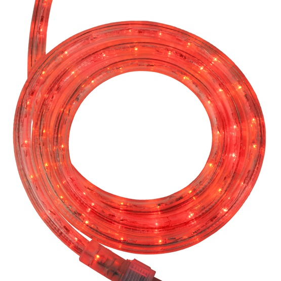 "12' Red LED Rope Light, 2 Wire 1/2"", 120 Volt"