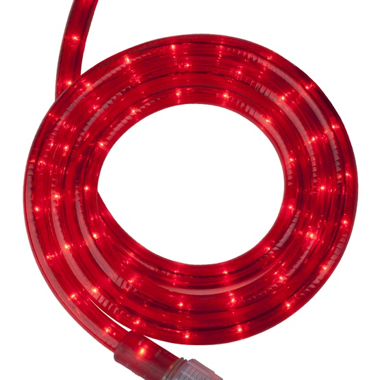 "18' Red Christmas Rope Light, 2 Wire 1/2"", 120 Volt"
