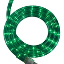 "30' Green Rope Light, 2 Wire 1/2"", 120 Volt"