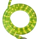 "18' Fluorescent Green Rope Light, 2 Wire 1/2"", 120 Volt"