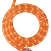 "18' Fluorescent Orange Rope Light, 2 Wire 1/2"", 120 Volt"