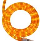 """30' Orange Rope Light, 2 Wire 1/2"""", 120 Volt"""