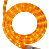 "12' Orange Rope Light, 2 Wire 1/2"", 120 Volt"