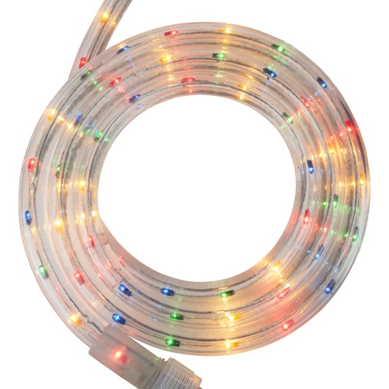 "30' Multicolor Rope Light, 2 Wire 1/2"", 120 Volt"