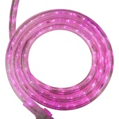 "30' Pink LED Rope Light, 2 Wire 1/2"", 120 Volt"
