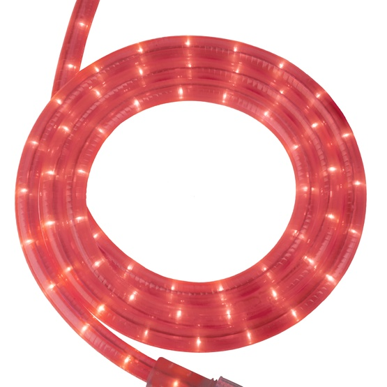 "30' Fluorescent Pink Rope Light, 2 Wire 1/2"", 120 Volt"
