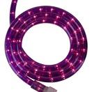 "18' Purple Rope Light, 2 Wire 1/2"", 120 Volt"