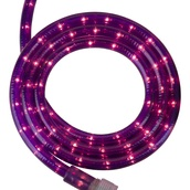 "30' Purple Rope Light, 2 Wire 1/2"", 120 Volt"