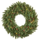 Brighton Fir Prelit Artificial Christmas Wreath, Multicolor Lights