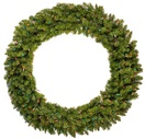 Tiffany Prelit LED Artificial Christmas Wreath, Multicolor Lights