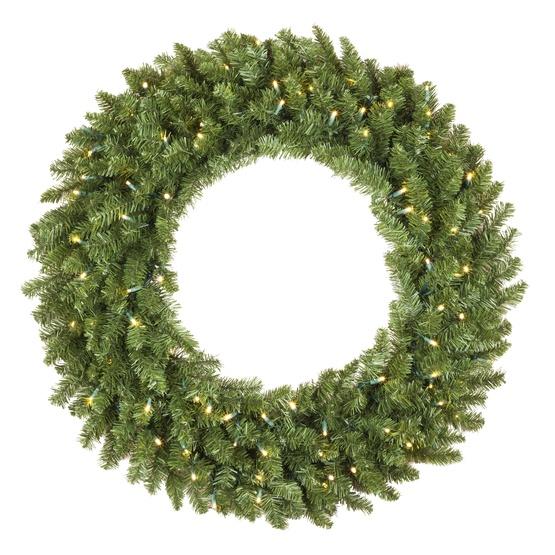 Tiffany Prelit LED Holiday Wreath, Warm White Lights