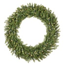 Norway Spruce Prelit Christmas Wreath, Clear Lights