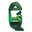 35' Green Medium Duty Extension Cord, 13 Amp with Male Plug, Outdoor Use