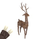 "48"" Grapevine Standing Reindeer, LED Outdoor Yard Decoration"