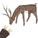 "48"" Grapevine Reindeer with Head Down, LED Outdoor Yard Decoration"