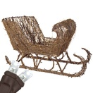 "35"" Grapevine Sleigh, LED Outdoor Yard Decoration"